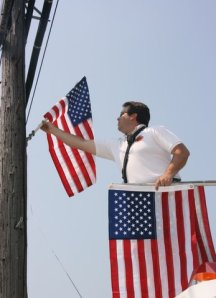 flag hanging